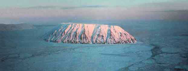 The Diomede Islands in the Bering Strait